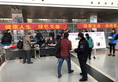 江阴市运管处联合公安开展禁毒宣传活动
