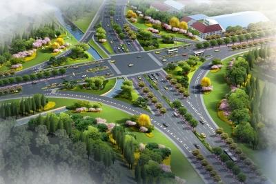西环线及西环线与G312交叉口景观提升工程开工建设